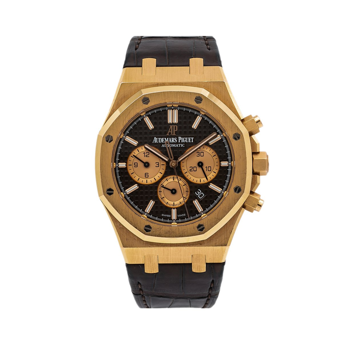 Audemars Piguet Royal Oak Chronograph 26331OR 41MM Black Dial With Leather Bracelet
