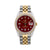 Rolex Oyster Perpetual Diamond Watch, Date 15053 34mm, Red Diamond Dial With Two Tone Jubilee Bracelet