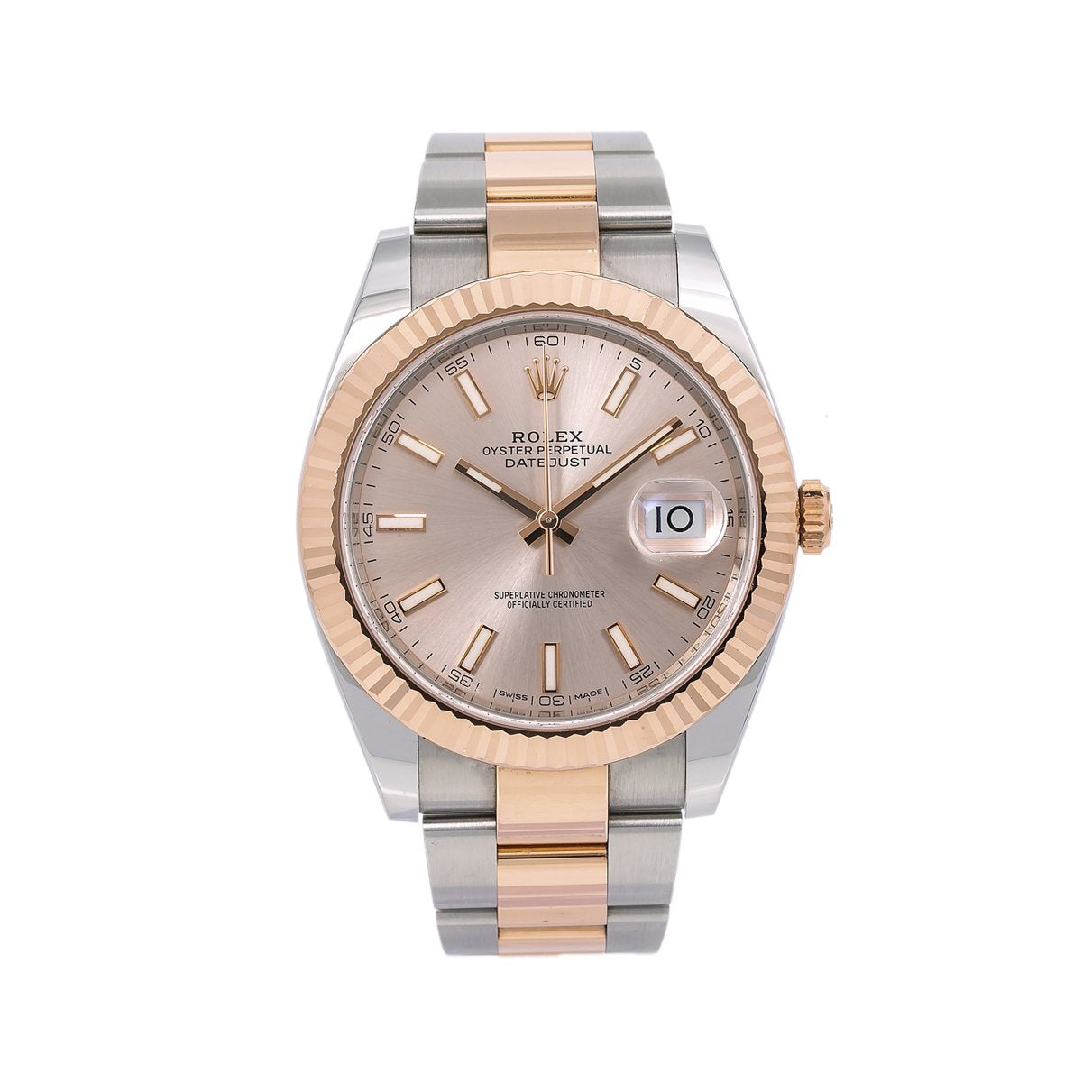 Rolex Datejust II 126331 41MM Pink Dial With Two Tone Oyster Bracelet