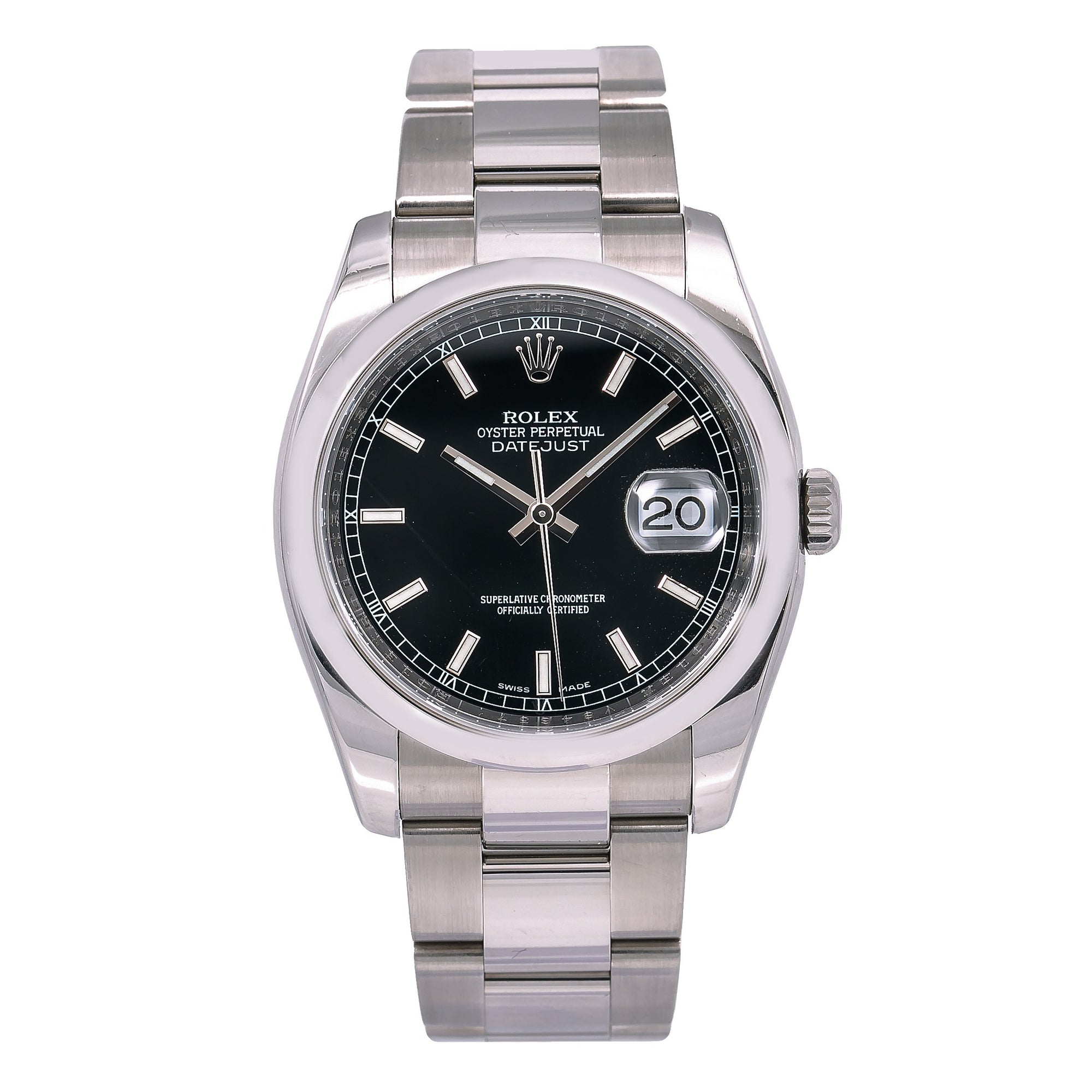Rolex Datejust 116200 36MM Black Dial With Stainless Steel Oyster Bracelet