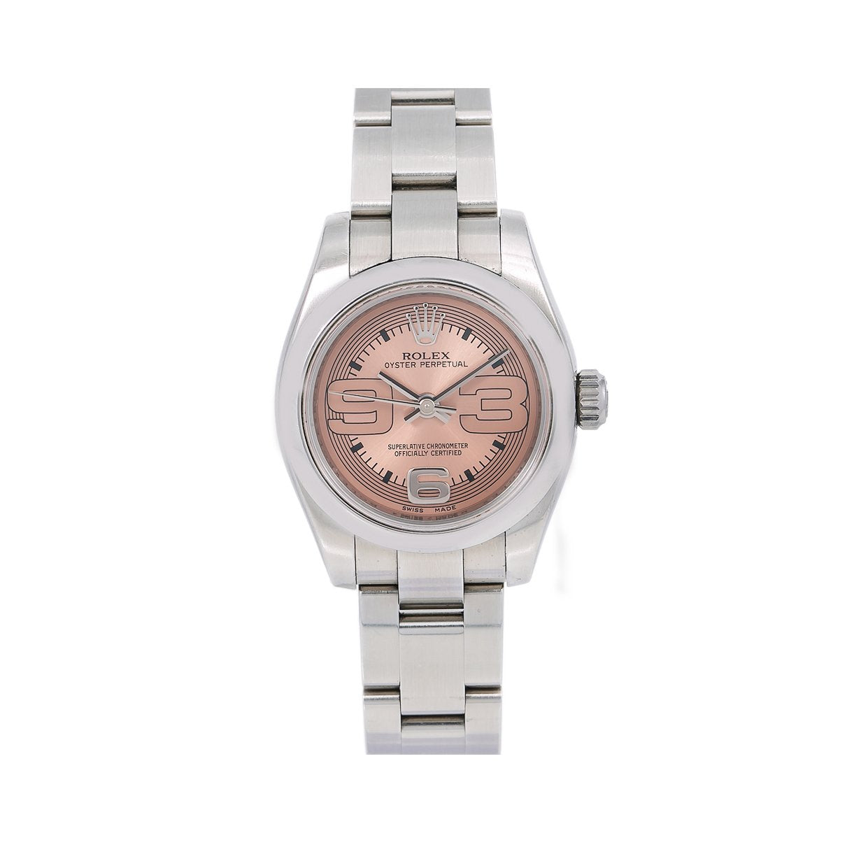 Rolex Oyster Perpetual 176200 26MM Pink Dial With Stainless Steel Bracelet