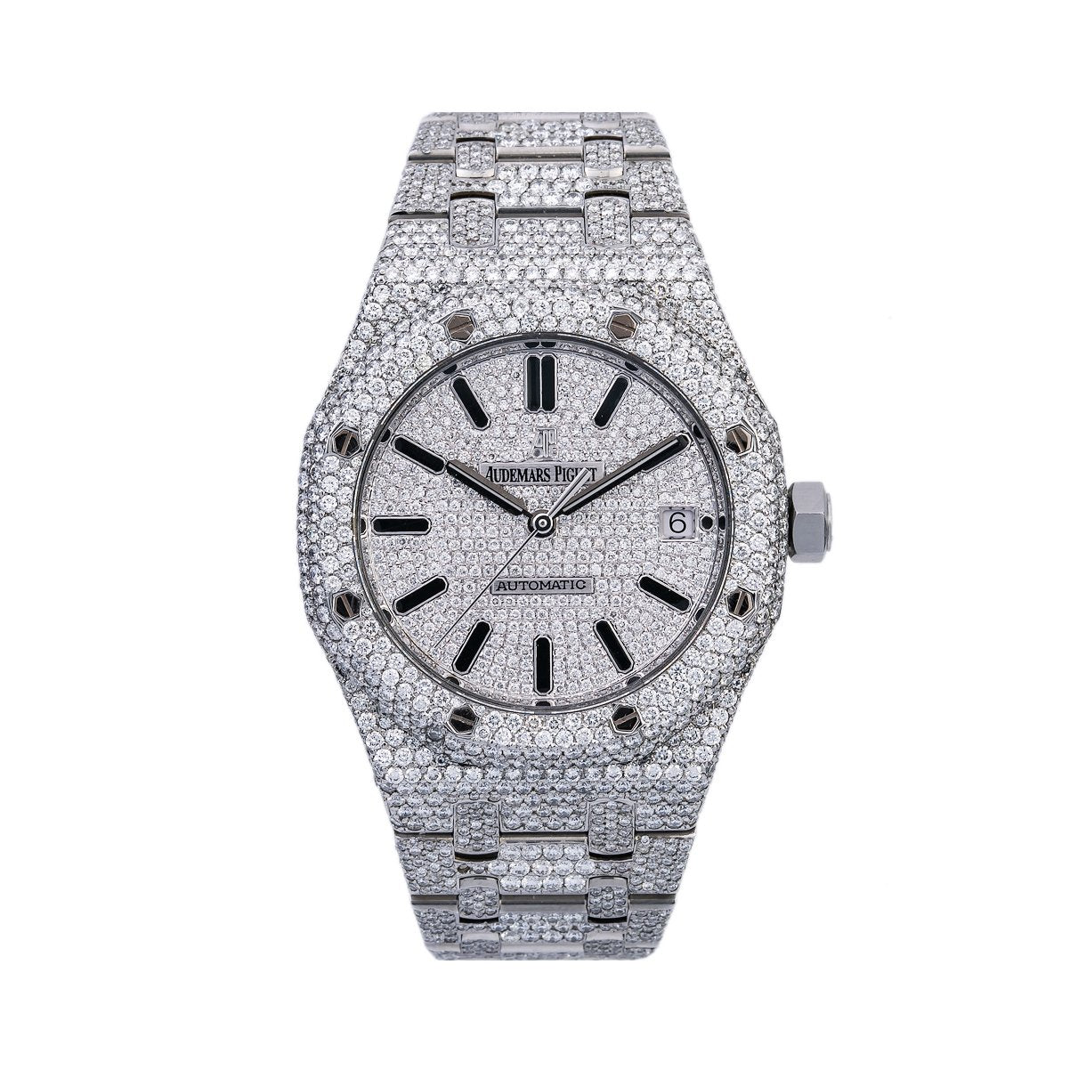 Audemars Piguet Royal Oak Selfwinding 15450ST 37MM Iced Out With  20.75 CT Diamonds