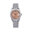Rolex Lady-Datejust Diamond Watch, 68240 31mm, Pink Custom Diamond Dial With Stainless Steel Jubilee