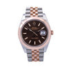 Rolex Datejust Diamond Watch, 126301 41mm, Brown Custom Diamond Dial With Two Tone Jubilee Bracelet