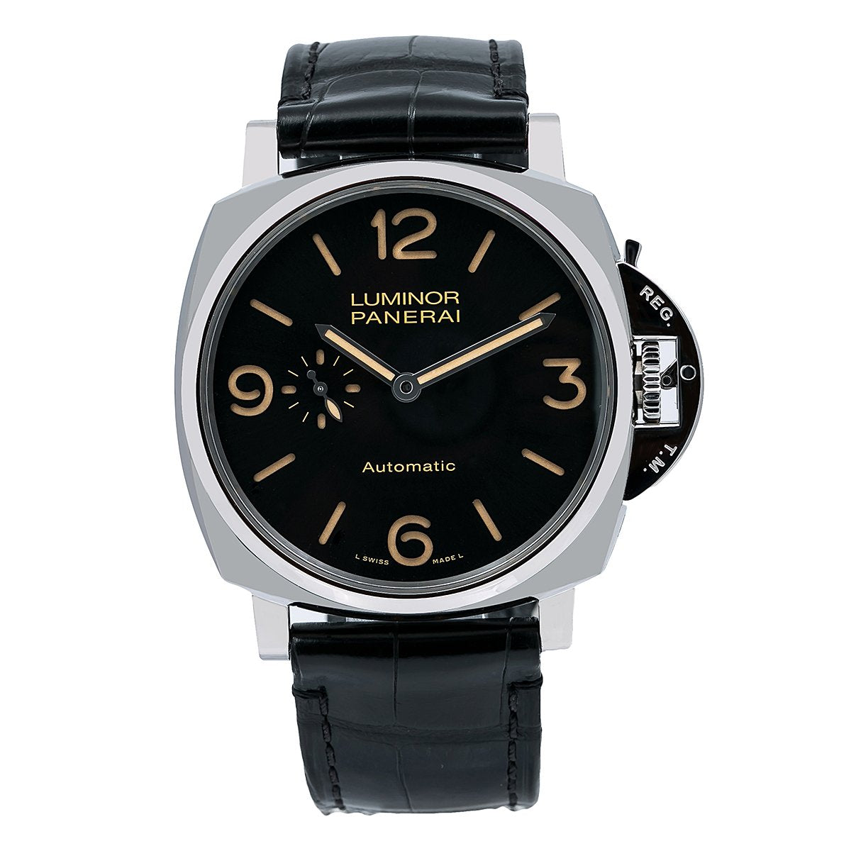 Panerai Luminor Due PAM00674 45MM Black Dial With Leather Bracelet
