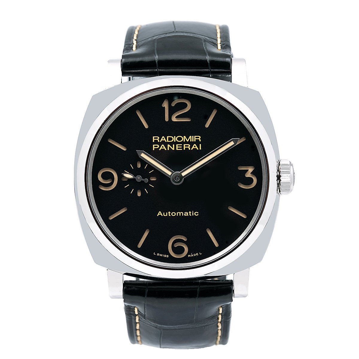 Panerai Radiomir 1940 3 Days Automatic PAM00572 45MM Black Dial With Crocodile Skin Bracelet