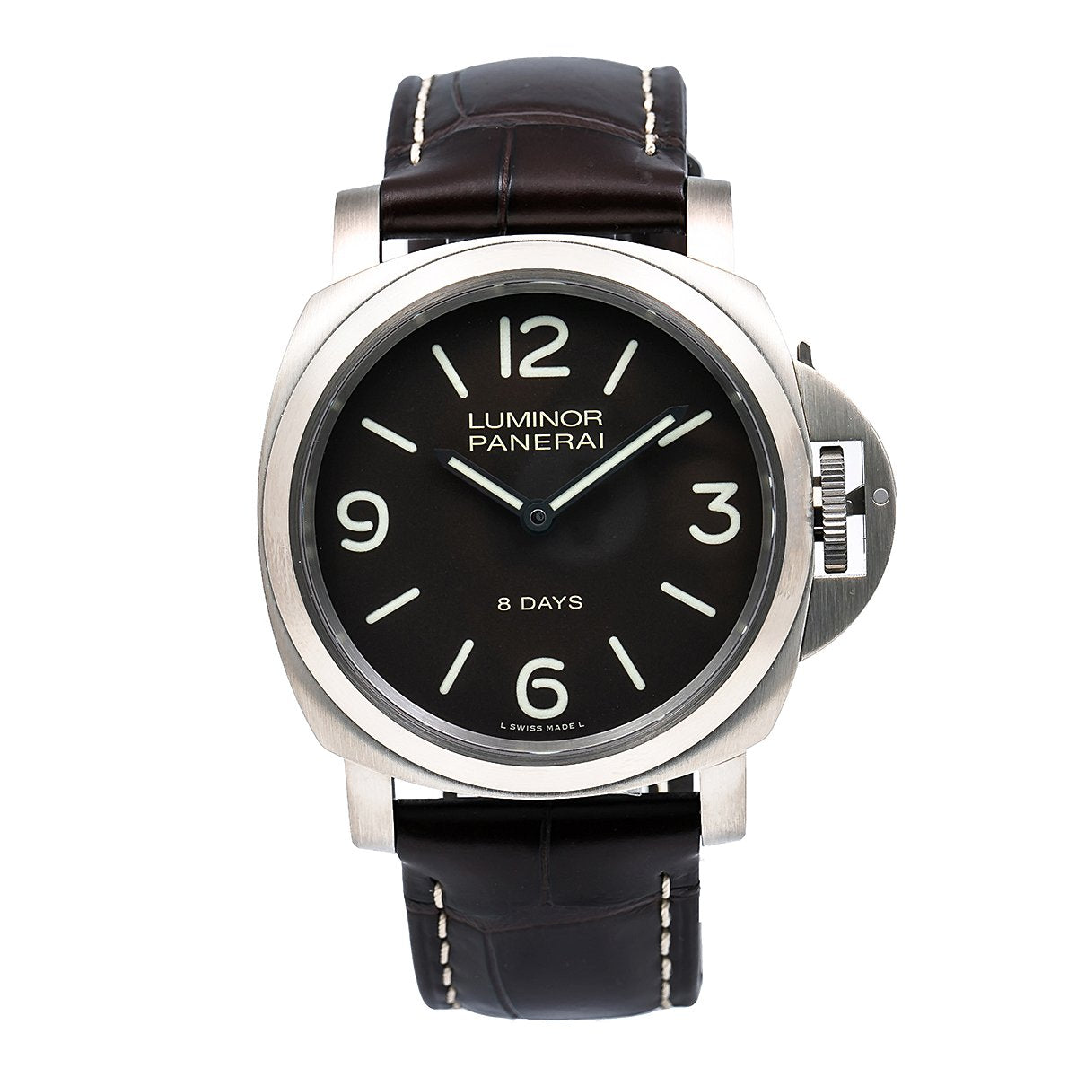 Panerai Luminor Base 8 Days PAM00562 44MM Black Dial With Leather Bracelet