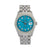 Rolex Datejust Diamond Watch, 16014 36mm, Blue Custom Diamond Dial With Stainless Steel Ju