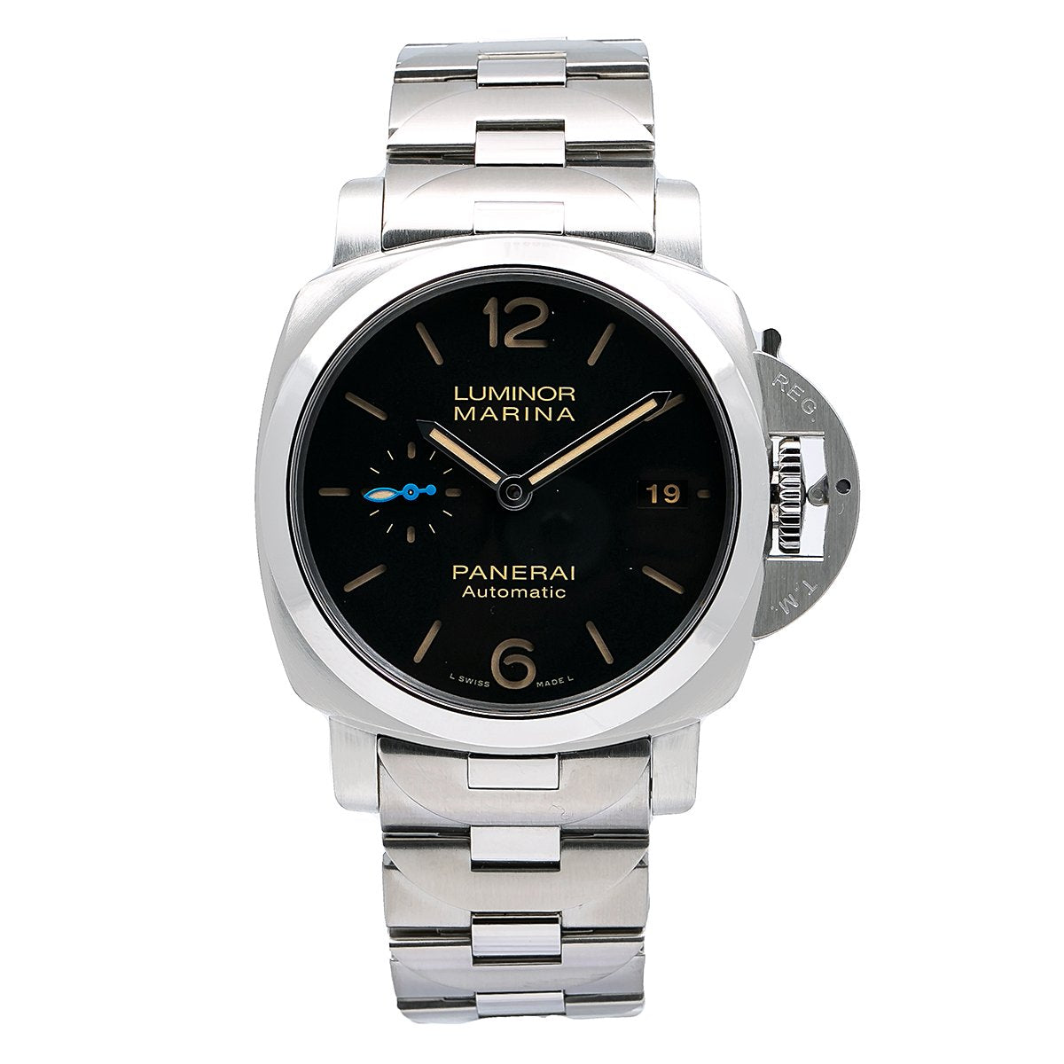 Panerai Luminor Marina 1950 Automatic PAM00722 42MM Black Dial With Stainless Steel Bracelet