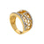 LADIES 18K YELLOW GOLD HAND RING WITH 0.59 CT DIAMONDS