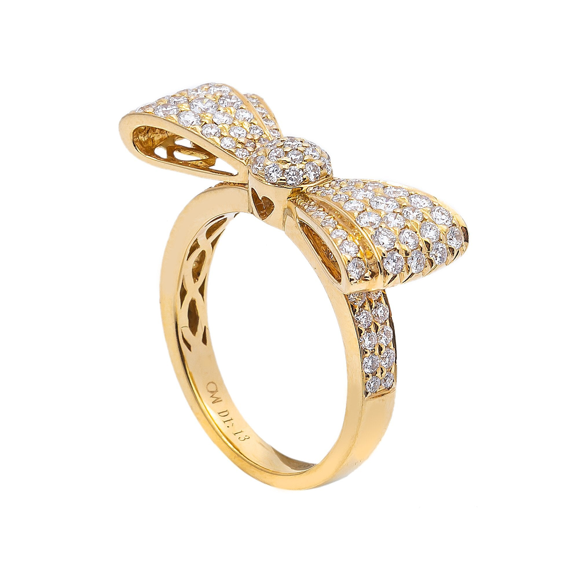Ladies 18k Yellow Gold with 1.13 CT Right Hand Ring