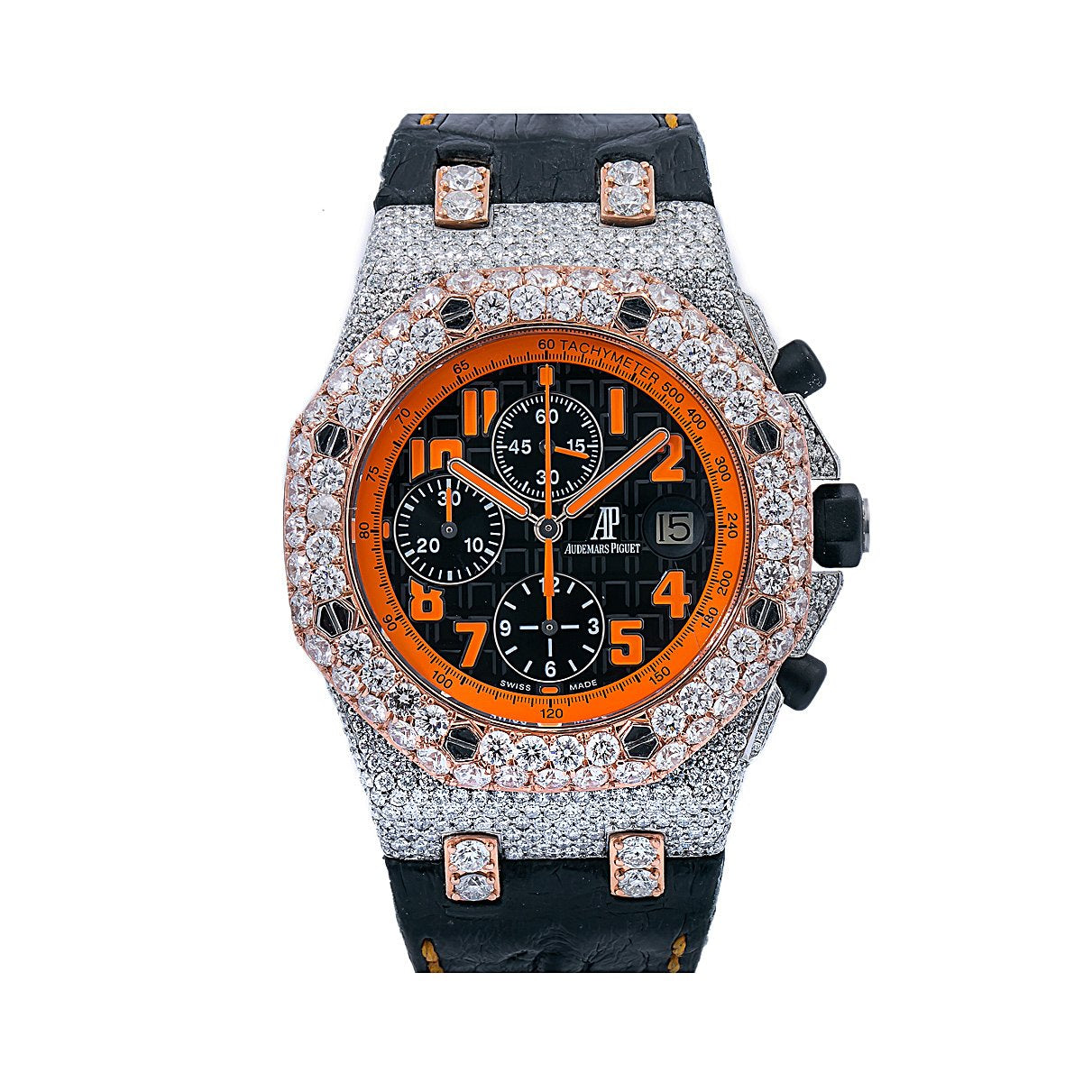Audemars Piguet Royal Oak Offshore Chronograph Volcano 26170ST 42MM Black Dial With Leather Bracelet
