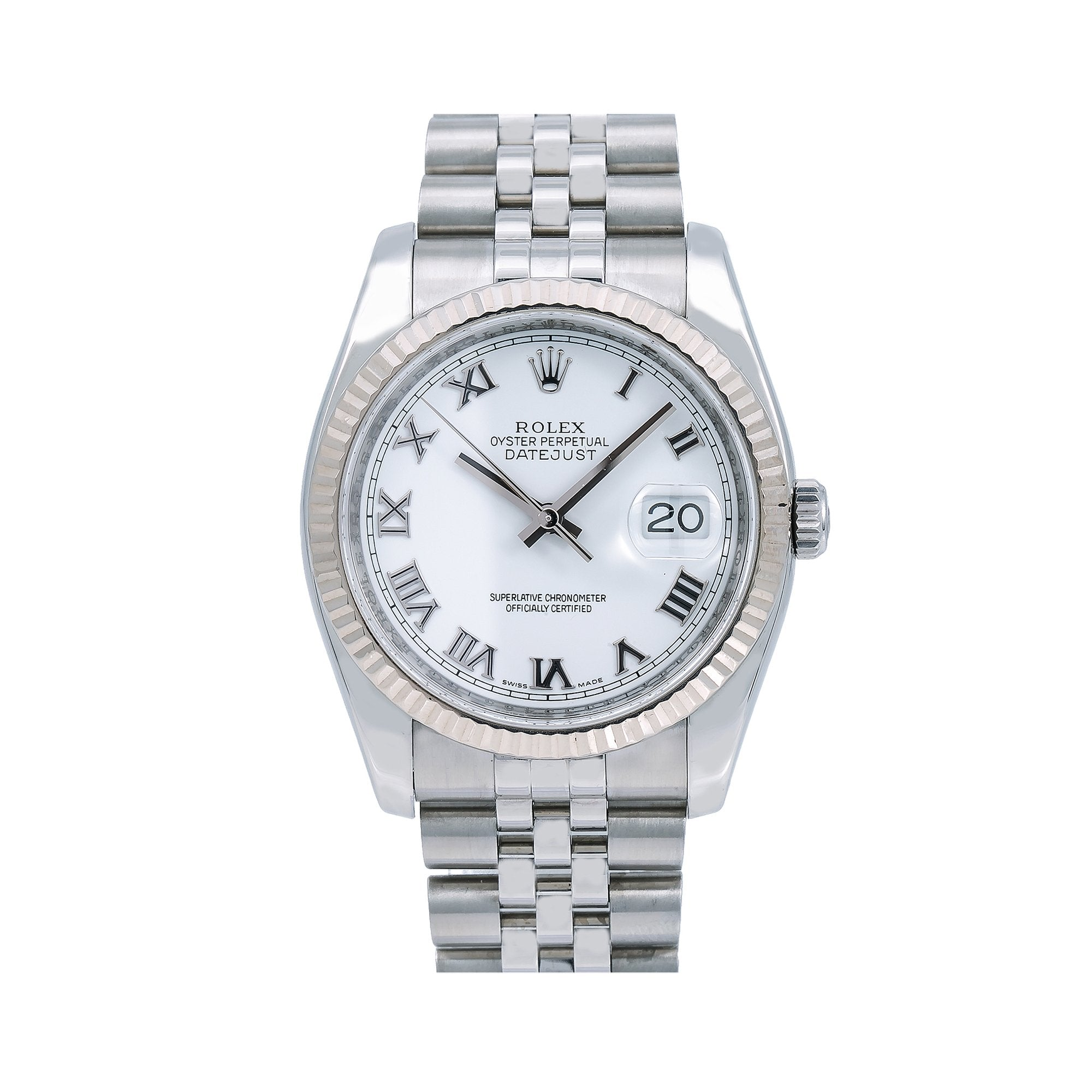 Rolex Datejust 116234 36MM White Dial With Stainless Steel Jubilee Bracelet