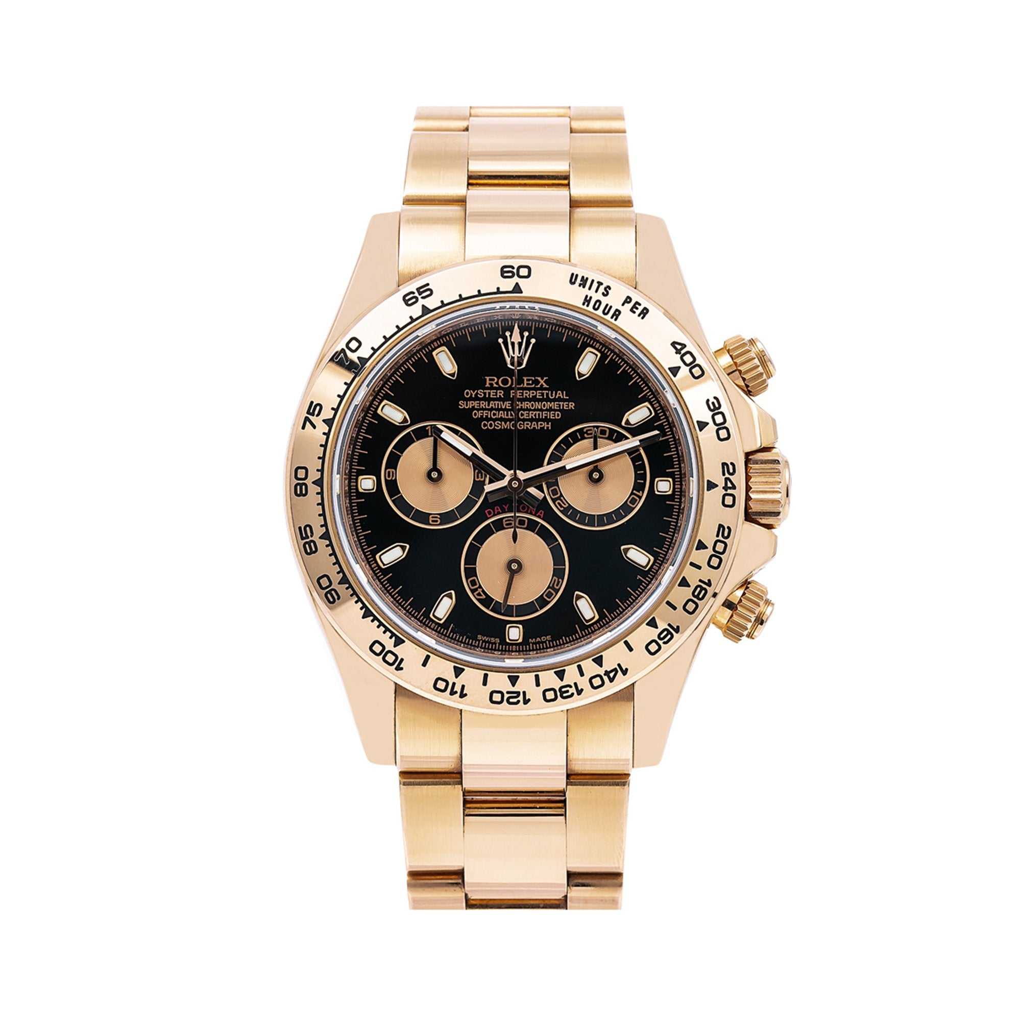 Rolex Daytona 116505 40MM Black Dial With Rose Gold Bracelet