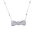 14K White Gold Women's Necklace 10.20 CT Diamonds