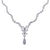 18K White Gold Women's Necklace 3.92 CT Diamonds