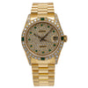 Rolex Datejust 68278 31MM Champagne Diamond Dial With Yellow Gold President Bracelet