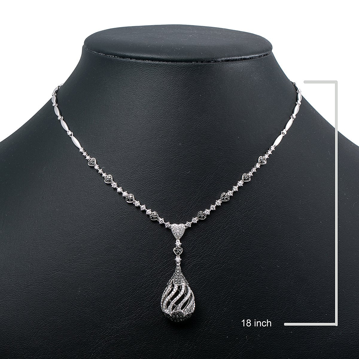 """18K White Gold N1285BL 18"""" With 19.00 grams Women's Necklace"""
