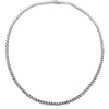 "14K White Gold LN669 16"" Women's Necklace With 10.70 CT Diamonds"