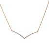 "18K Yellow Gold DDN1005 17"" Women's Necklace With 0.45 CT Diamonds"
