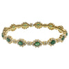 "22K Yellow Gold CLS8265 2.5"" Emerald Women's Bracelet With 2.00 CT Diamonds"