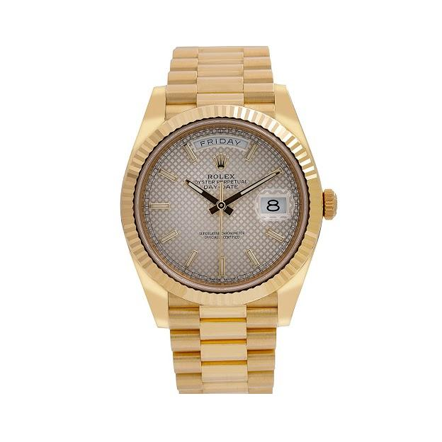 Rolex Day-Date 326938 40MM White Dial With Yellow Gold Bracelet