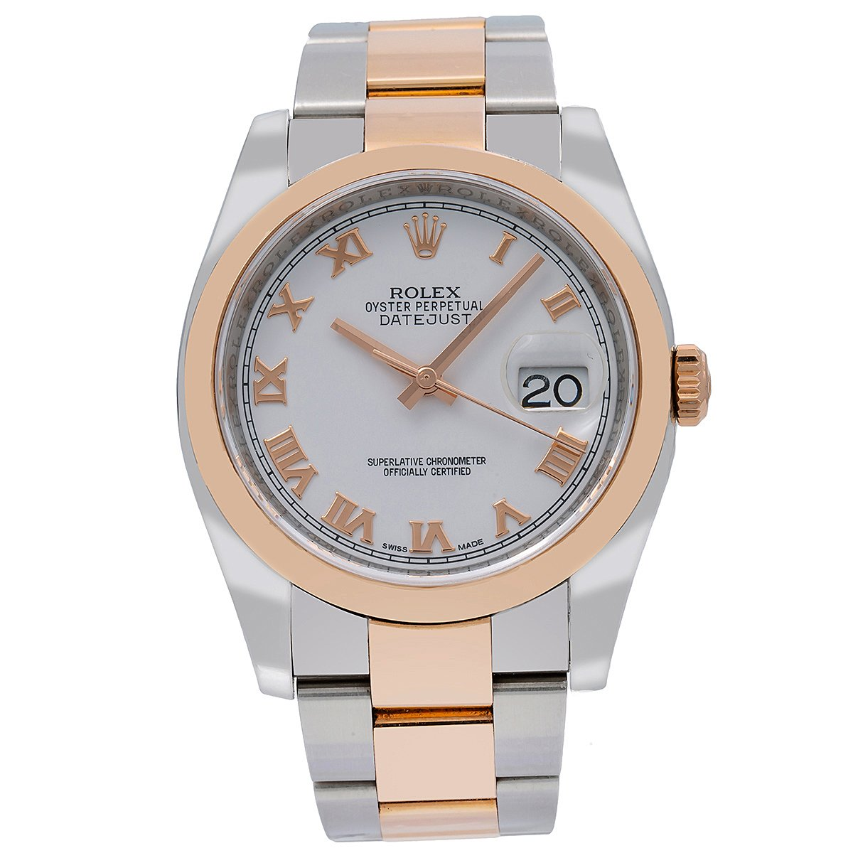 Rolex Datejust 116201 36MM White Dial With Two Tone Oyster Bracelet