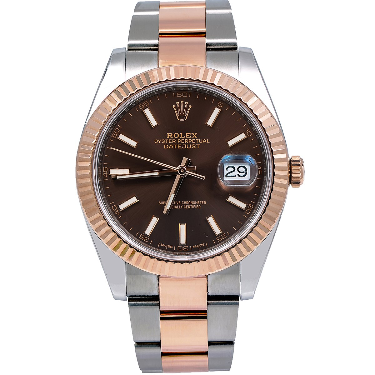 Rolex  Datejust II 126331 41MM Brown Dial With Two Tone Oyster Bracelet