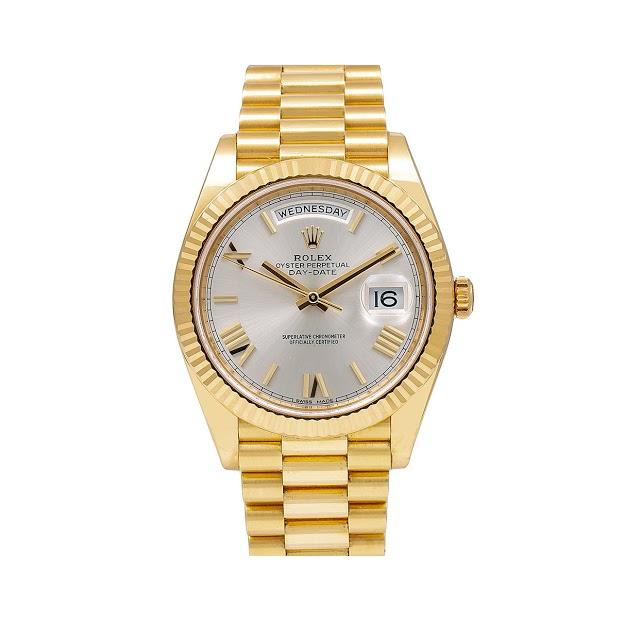 Rolex Day-Date 228238 40MM Silver Dial With Yellow Gold President Bracelet