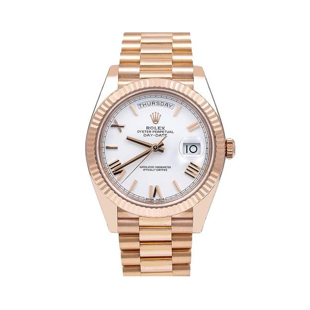 Rolex Day-Date 228235 40MM White Dial With Rose Gold President Bracelet