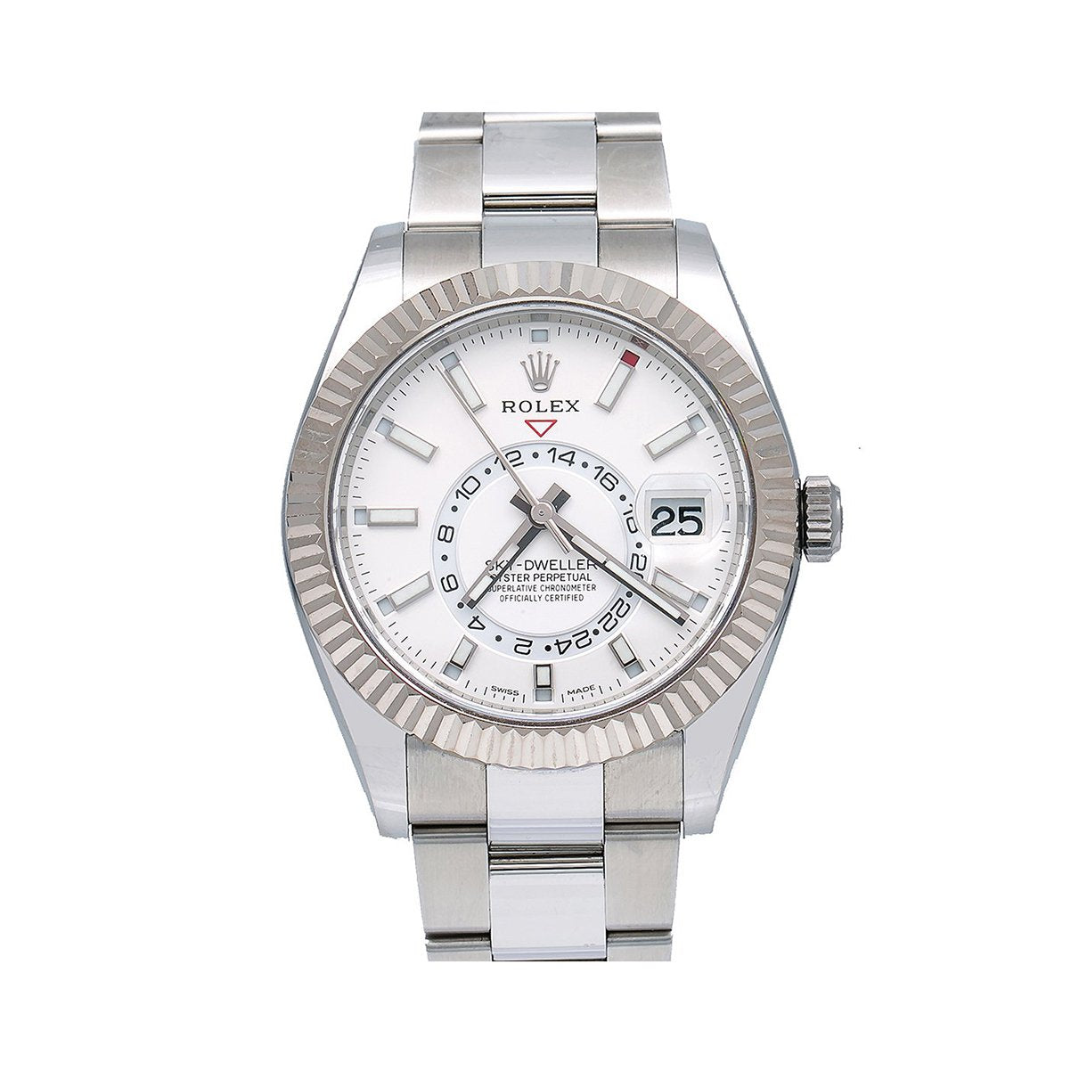 Rolex Sky-Dweller 326934 42MM White Dial With Stainless Steel Oyster Bracelet
