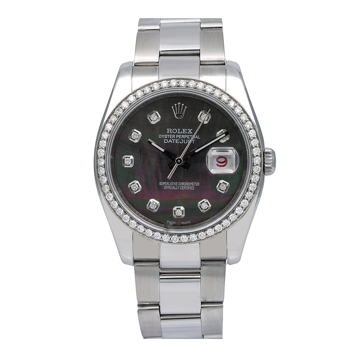 Rolex Datejust Diamond Watch, 116200 36mm, Mother of Pearl Dial With 1.20 CT Diamonds