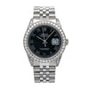 Rolex Datejust 16014 36MM Black Dial With 2.85 CT Diamonds