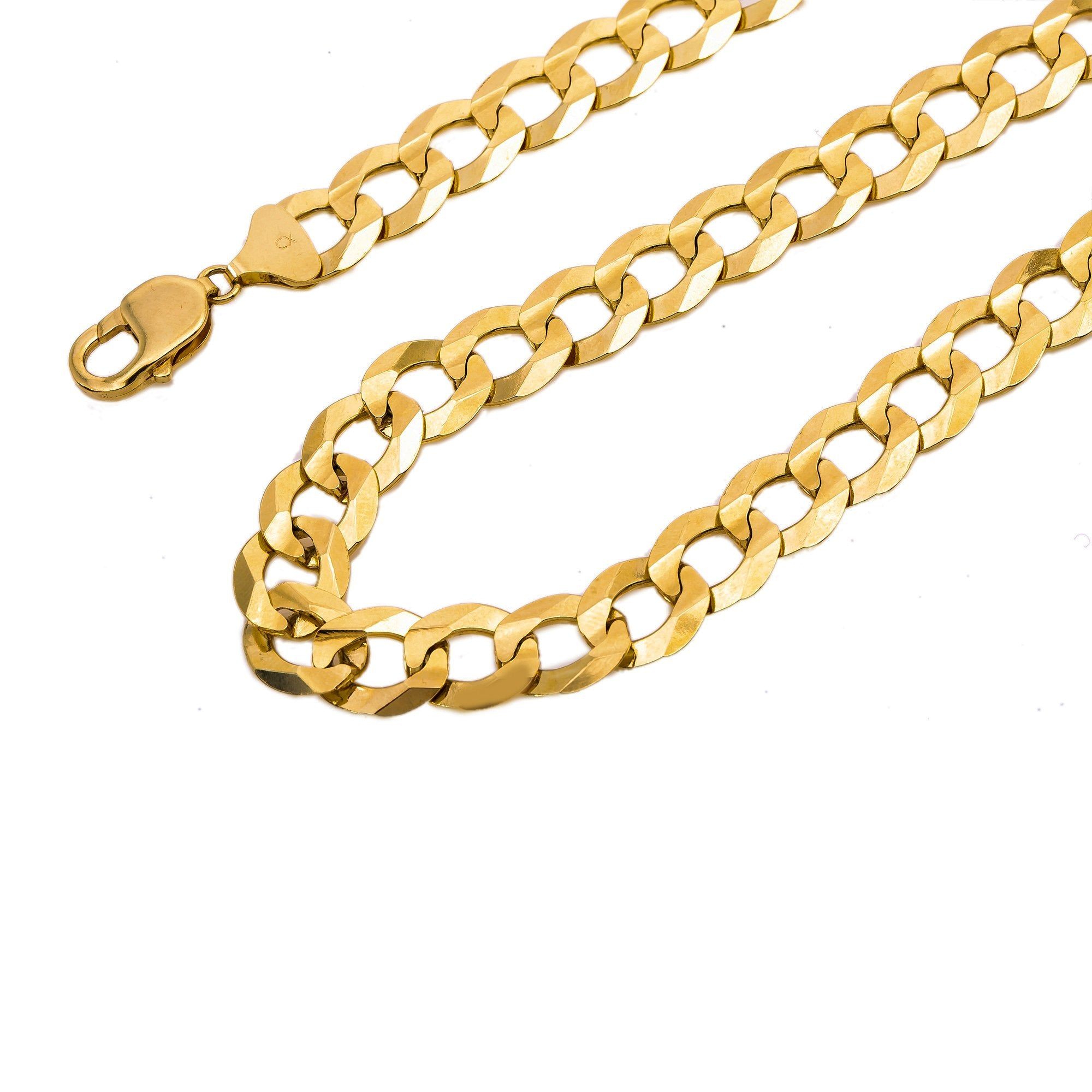 Men's Miami Cuban Link Chain 14K Solid Yellow Gold