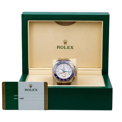Rolex Yacht-Master II 116681 44MM White Dial With Two Tone Oyster Bracelet