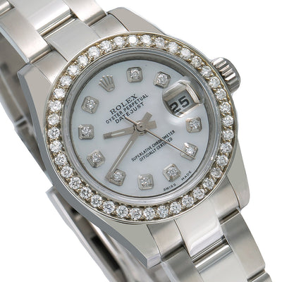 Rolex Datejust 179160 26MM Silver Diamond Dial With 0.90 CT Diamonds