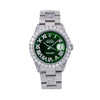 Rolex Datejust 6605 36MM Green Diamond Dial With 8.25 CT Diamonds