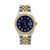 Rolex Datejust 16013 36MM Blue Diamond Dial With 1.20 CT Diamonds