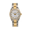 Rolex Datejust 68273 31MM White Diamond Dial With 1.15 CT Diamonds
