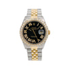 Rolex Datejust 16013 36MM Black Diamond Dial With 3.75 CT Diamonds