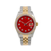 Rolex Datejust 16013 36MM Red Diamond Dial With 1.20 CT Diamonds