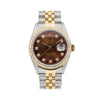 Rolex Datejust 16013 36MM Brown Diamond Dial With 1.20 CT Diamonds