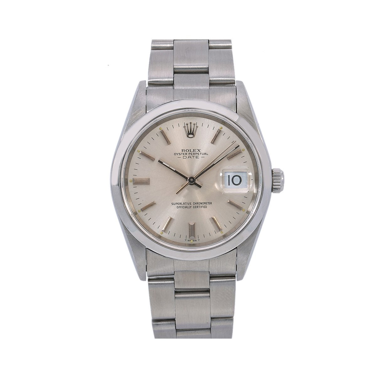 Rolex Oyster Perpetual Date 34MM Silver Dial With Stainless Steel Oyster Bracelet