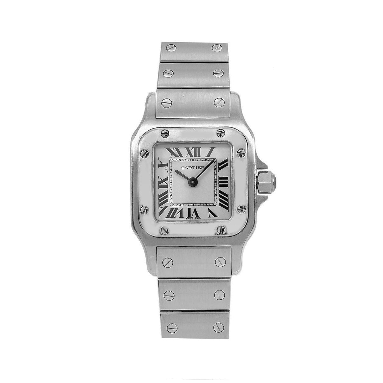 Cartier Santos Galbée W20056D6 24MM White Dial With Stainless Steel Bracelet