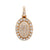 Men's 14K Yellow Gold Round Pendant with 1.77 CT Diamonds