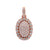 Men's 14K Rose Gold Round Pendant with 1.85 CT Diamonds