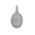 Men's 14K white Gold Round Pendant with 1.85 CT Diamonds