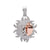Unisex 14K White and Rose Gold Pendant with 1.41 CT Diamonds