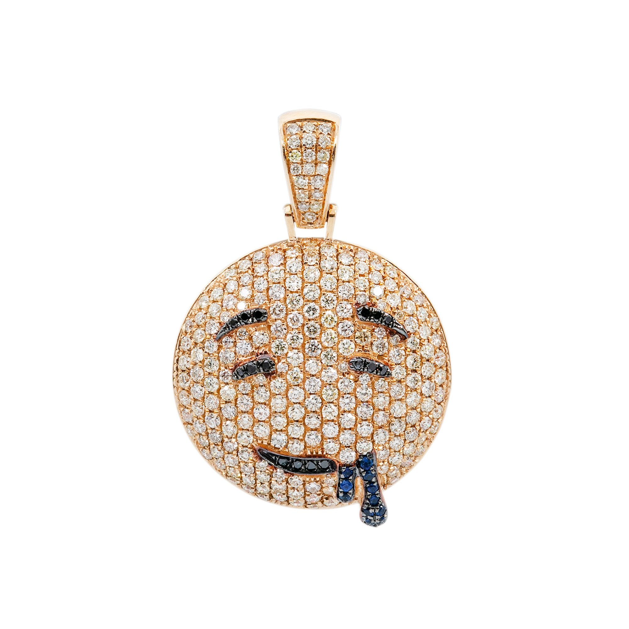 14k Yellow Gold Pendant with 2.59 Ct Diamonds