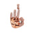 14K Rose OM Hand Women's Pendant with diamonds